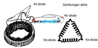stator coil model delta